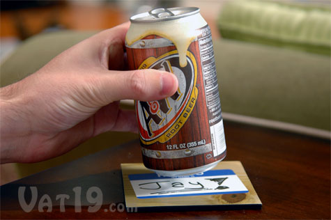 Rewriteable Magnetic Drink Coasters