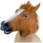 horse head mask 150x150 Creepy, freaky, awesome. Zombie Garden Gnomes