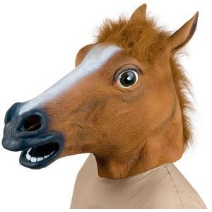 horse head mask I just found the creepiest mask of all time, and its of a horse, of course.