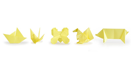 4139 5shapes Theyre anything but tacky, Origami Sticky Notes