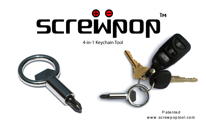 Screwpop™ Tool The Screw Pop™, worlds coolest 4 in 1 keychain tool