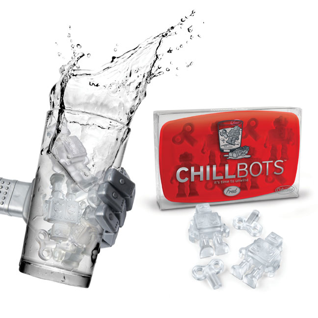 chill bots ice tray 299.44b Chill bots silicone ice cube tray