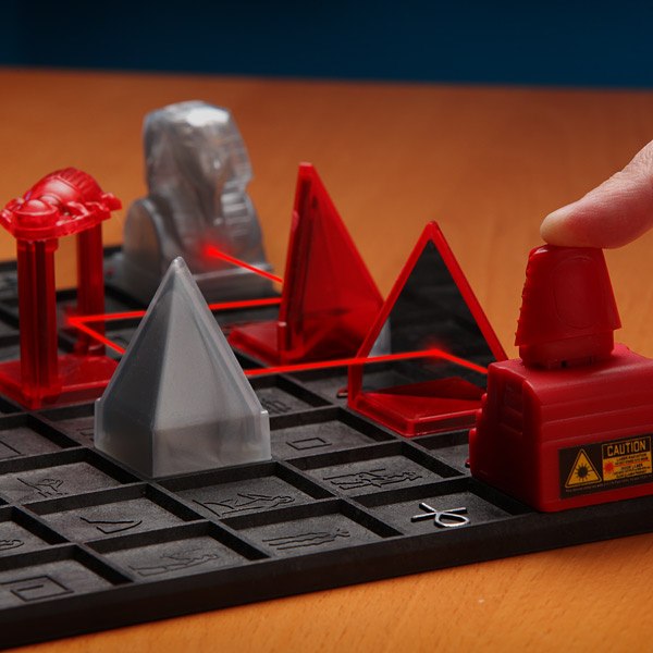 khet 2 0 laser game closeup Toy of The Year Finalist, Khet 2.0 is a board game that uses lasers!