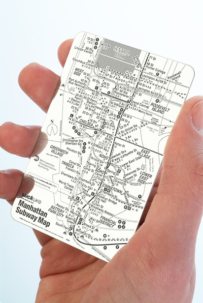 manhattan subway map Give directions that are practically bulletproof with Stainless Steel Pocket Maps