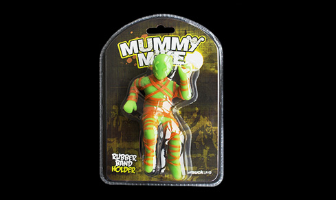 mummy mike rubber band holder Mummy Mike Rubber Band Holder