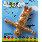 When you're feeling a little down get a backyard Bungee Bird Feeder
