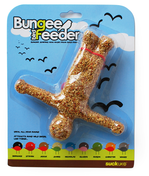 bungee bird feeder suckuk When youre feeling a little down get a backyard Bungee Bird Feeder