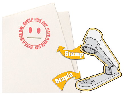 Picture 3 What do you get when you combine stamps and staplers?