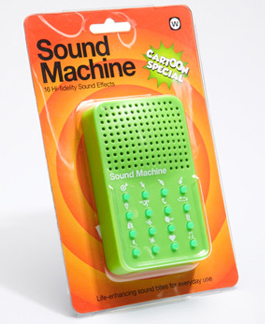 cartoon sound machine Enhance your phone conversations with this wacky sound machine