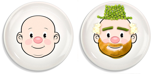 food face plate before and after Turn food into art with Food Face Plates