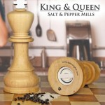 king  queen salt and pepper mills 150x150 20 of The Most Creative and Coolest Salt and Pepper Shakers Around