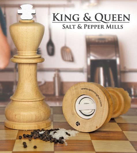 king  queen salt and pepper mills 20 of The Most Creative and Coolest Salt and Pepper Shakers Around