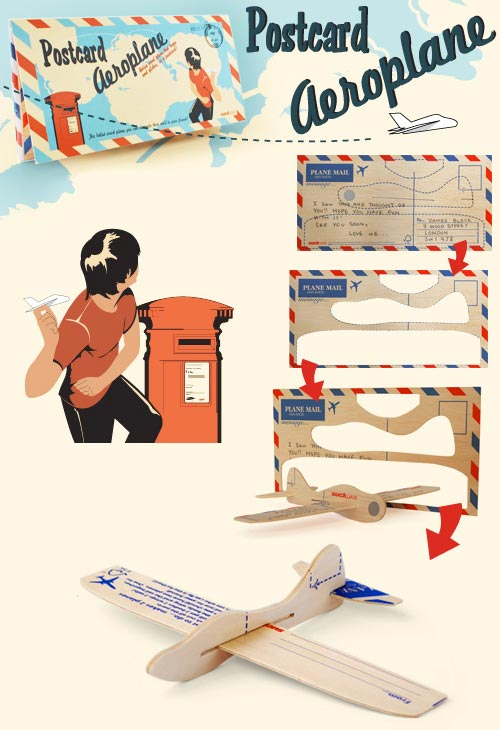 postcard aeroplane A throw back to your youth, literally, with a Postcard Aeroplane