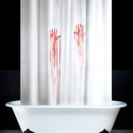 psycho shower curtain 150x150 What floats, looks like a boat and cleans nails? A Boat Nail Brush, obviously
