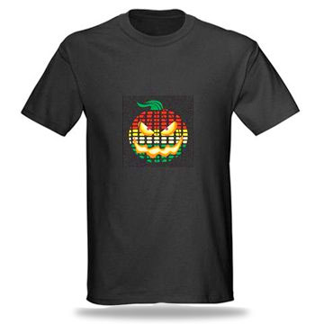 pumpkin LED equalizer t shirt Eye candy! A Tricky Halloween T Shirt that lights up at night