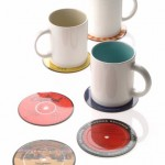 New Recycled Vinyl Record Drink Coasters prevent table scratching