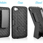 wirelessground iphone4 holster case combo 150x150 Heres an iPhone case that really stands out, the Shell Holster Combo