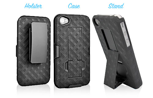 wirelessground iphone4 holster case combo Heres an iPhone case that really stands out, the Shell Holster Combo
