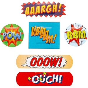 wor048 ouch plasters comic strips 300main Turn your cuts into comics with Ouchie Bandaids!
