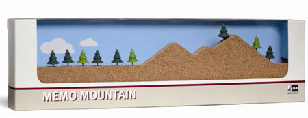 memo mountain cork board Climb to the top of office accessory coolness with Memo Mountain