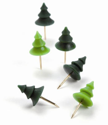 memo mountain tree push pins Climb to the top of office accessory coolness with Memo Mountain