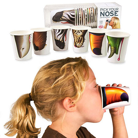 pick your nose animal cups How to pick your nose at parties