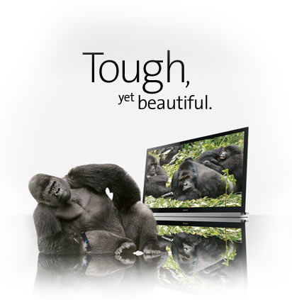 sony bravia corning gorilla glass Sony Bravia HDTVs now have some of that Corning Gorilla Glass action and its pretty awesome
