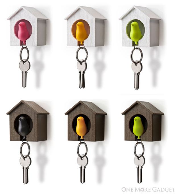 Sparrow keyring holder one more gadget Cute Sparrow Keyring and Birdhouse keeps a look out for the bad guys