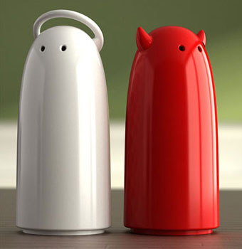 angel and devil salt and pepper shakers omg 20 of The Most Creative and Coolest Salt and Pepper Shakers Around