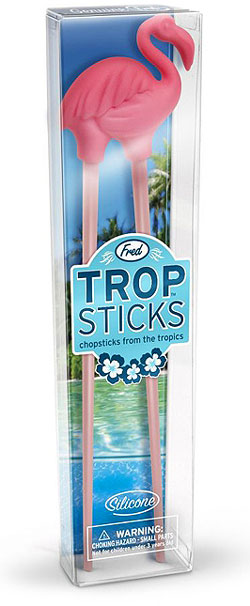 trop sticks chopsticks from the tropics Stick it to your Take Out with Trop Sticks Flamingo Chopsticks