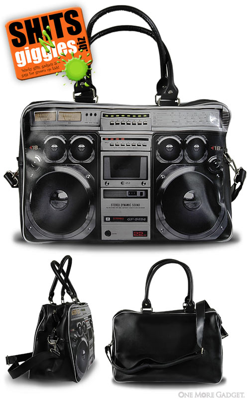 ghetto blaster bag shitsngiggles Everybodys rocking for the weekend. Its a Ghetto Blaster weekend bag