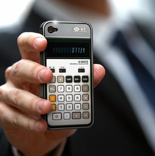 iphone calculator case shitsngiggles These cool retro cases for your iPhone make your new gadgets a thing of the past