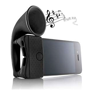 iphone silicone amplifier wireless ground Cool gadget, a pure silicone sound amplifier for the iPhone 4S