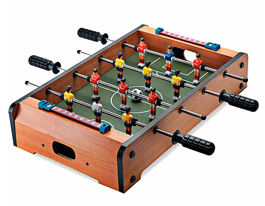 tabletopfoosball shitsngiggles The second best thing you can do on a table, Table Top Foosball
