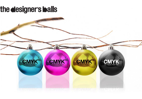 CMYK designers balls ornaments one more gadget Turn your red and green Christmas into CMYK with Designers Balls