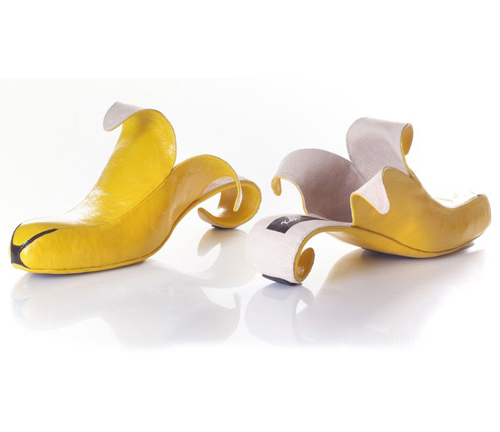 banana high heel shoes one more gadget The Greatest List of the Craziest High Heels, OMG Shoes, Part Deux.
