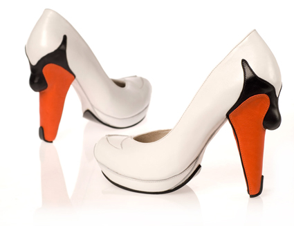 swan high heel shoes one more gadget The Greatest List of the Craziest High Heels, OMG Shoes, Part Deux.