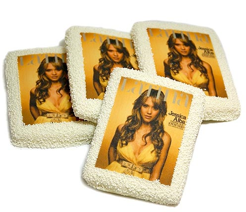 jessica alba printable cookie A new promotional business tool people really eat up   New printable promotional cookies
