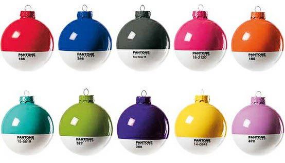 pantone christmas tree ornamentsjpg Pantone Christmas Ball Ornaments are drool worthy