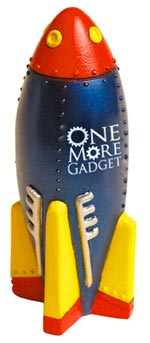 retro rocket stress ball one more gadget The Greatest List of the Most Unique Promotional Stress Balls Around