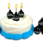 bomb birthday candles 150x150 Your birthday party will blow with Dynamite and Bomb Birthday Candles