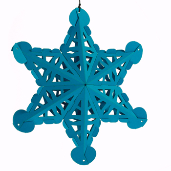 poly puzzle snowflake Poly Puzzle Kids Construction Sets use paper instead of plastic