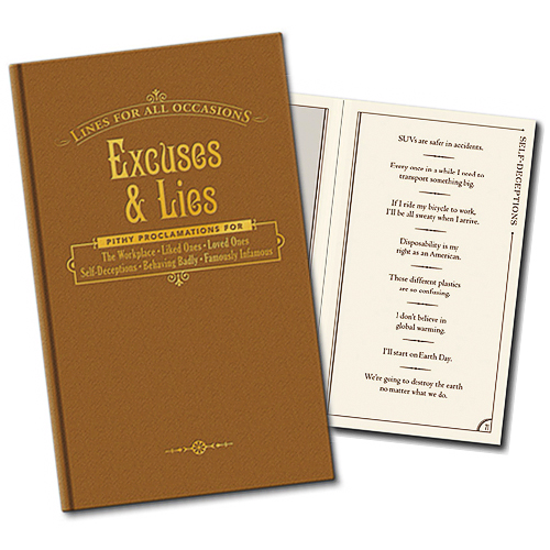excuses and lies for all occasions The Book of Excuses and Lies for All Occasions