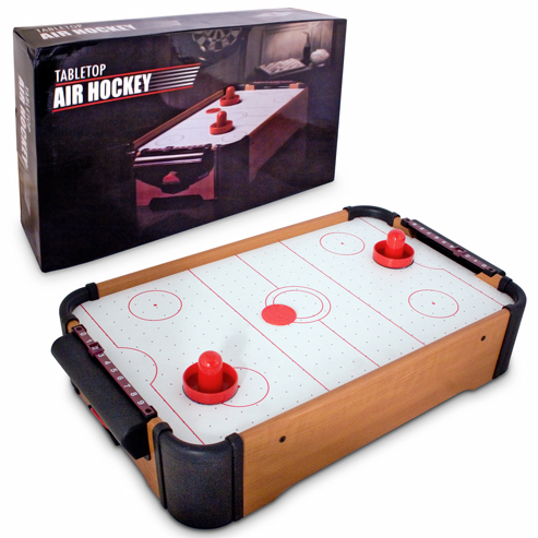 tabletop air hockey game For really small apartments or really small people, its Mini Table Air Hockey Game
