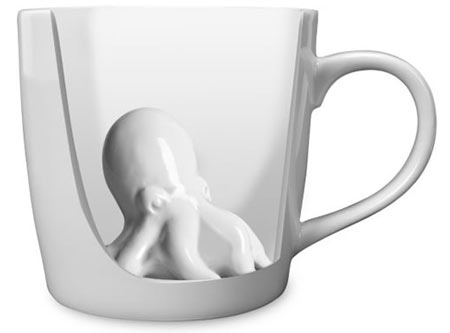 Octopus Mug cutaway An Octopus in your mug is a real suction cup