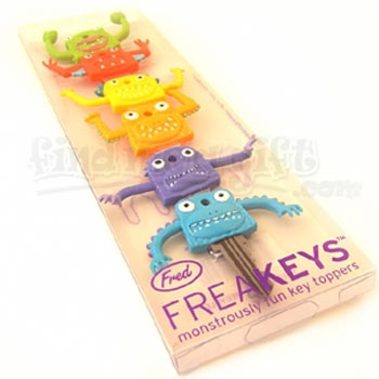 freakeys key covers package Give your keys some personality and tell them apart with Monster key covers