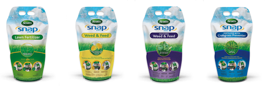 snapbags Its more fun than watching the grass grow   the new Scotts Snap Spreader System
