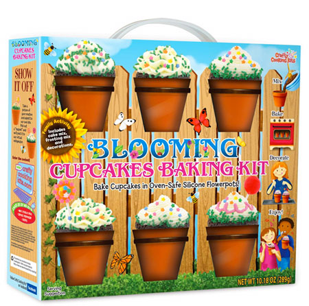 blooming cupcakes flower pot baking kit Plant some ingredients and watch them grow, its the Blooming Cupcakes Baking Kit