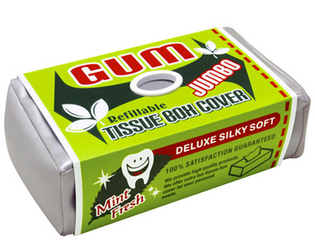 gum tissue box cover one more gadget Blowing your nose has never felt so minty fresh with this Gum Tissue Box Cover