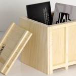 INBOX Wooden Desktop Crates 150x150 Show her love by giving her some wood. Carving your own Postcard, of course